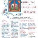 Muzejní noc a divadelní pouť 18. 6. 2016 plakát